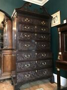 19th Century Edwards And Roberts Mahogany Chest On Chest