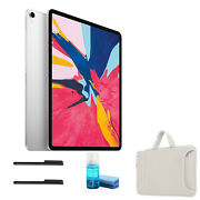 Apple Ipad Pro 12.9 Inch Late 2018, 64gb, Wi-fi + 4g Lte, Silver With White