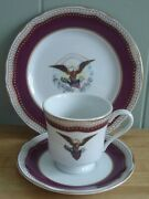 Woodmere White House Collection Abraham Lincoln Teacup And Saucer And Dessert Plate