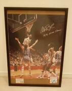 Nba Sign Magic Johnson Psa Appraisal Picture Frame Included