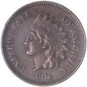 1872 Indian Head Cent Very Fine Penny Vf+ See Pics K458