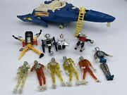 Large Lot Of Mego Toys Micronauts Action Figures Parts Time Traveler Lab Warrior