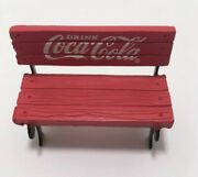 2002 Minture Metal And Plastic Red Coca Cola Park Bench Town Square Collection