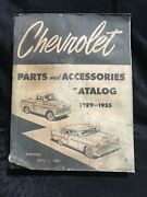 1929 - 1955 Chevrolet Car And Truck Parts And Accessories Catalog Book
