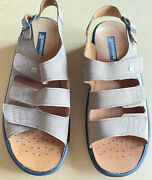 Romika Tan Suede Leather Size Us 11/ Eu 42 3-strap Sandals. Never Worn.