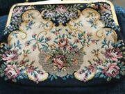 Vintage Floral Petit Point Tapestry Purse Bag Made In West Germany Gold Chain