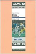 Green Bay Packers At Detroit Lions 12-21-1980 Full Ticket Dave Gallagher Photo A