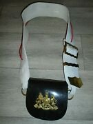 Household Cavalry Cross Belt And Pouch With Badge British Army Issue