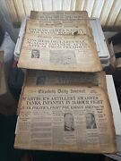 1941-1948 Newspapers Elizabeth Daily Journal Ww2 Roosvelt M'authers Vintage Lot