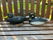 2 Vintage Flambeau And Victor D-9 Duck Decoys Plastic 15 Long