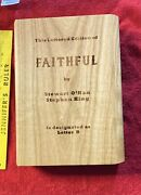 Stephen King Faithful Lettered Copy Wood Slipcase And Signed Red Sox Baseball Card