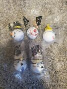 Vintage Jack In The Box Antenna Topper Ball - Set Of 5