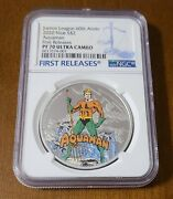 2020 Niue 2 60th Anniversary Justice League Aquaman Ngc Pf70 First Releases Uc