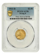 1911-d 2 1/2 Pcgs Au50 Strong D The Key Date To The Series