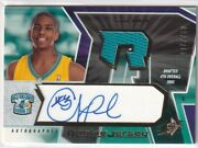 2005-06 Ud Spx Chris Paul Rookie Jersey Auto Autograph Card Limited To 750