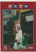 2008-09 Topps Chrome Vince Carter Red Refractor Limited To Sheets Sp Raptors