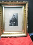 Vintage Framed Photo Of L. Victor Baughman- First Maryland Cavalry Confederates