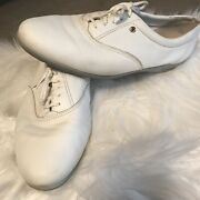 Easy Spirit Leather White 7 1/2 D Anti Gravity Shoes Lace Up Wide