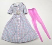 Homemade Pink And Blue Shirtdress For 12 Dolls Fashion Royalty Barbie Silkstone