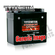 Tytaneum Maintenance Free Battery With Acid Harley Fxs Low Rider 1980-1982