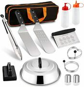 Grill Tool Kit 13 Pcs Griddle Accesories Set Outdoor Bbq Barbecue Tool