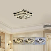 Dimmable Led Crystal Chandelier Celling Lamp Pendant Light Hotel Room Home Decor