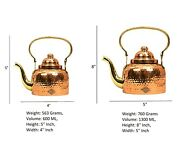 Indian Tea Kettle, Hammered Copper Chai Coffee Serving Kettle 600ml And 1300ml