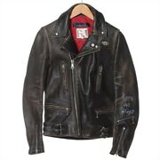 Comme Des Garonsx Louis Rubberd The Ad2016 Leather Riders Jacket 34 Menand039s Black