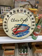 Vintage Chris Craft Boats Advertising Thermometer 12 Inch Good Condition