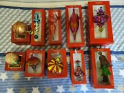 Waterford Marquis Christmas Ornament Assorted Design Set Of 10 Slightly Used.