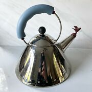 Alessi Tea Kettle Stainless Steel And Designed By The Famed Michael Graves