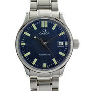 Omega 5203.81 Classic Automatic Stainless Steel Blue Mens Wristwatch