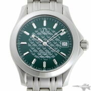 Omega Seamaster Jacques Mailor 1998 Chronometer Automatic 2506.70 Green Dial Ss