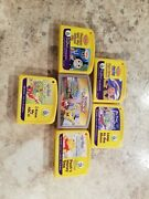 Lot Of 6 Leap Frog My First Leap Pad Preschool Game Cartridges + Leapster L-max