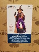 Jim Shore Midnight Mischief Witch, Ghost And Pumpkin-lighted Rotating Figurine