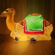 Vintage Camel Christmas Nativity Plastic Lighted Blow Mold Outdoor Animal