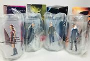 Star Trek Collectible 4 Glass Cup Set 2008 Burger King New Complete Set Unused
