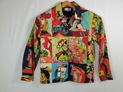 Vintage 90s Kaktus Art To Wear Picasso Dali Cubism Abstract Full Button Jacket S