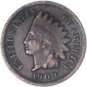 1908 S Indian Head Cent Fine Penny Fn See Pics J332