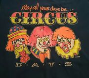 Ringling Bros And Barnum And Bailey Circus Clown T-shirt Large Blue Usa Pre-owned