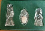 Marquis Waterford Crystal Nativity Set Of 3 Joseph Mary And Jesus Holy Family Box