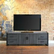 70 Charcoal Grey Wood Tv Stand Console By Walker Edison