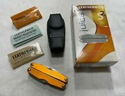 Leatherman Juice S2 Flame Orange Early Run Excellent Condition New Sheath