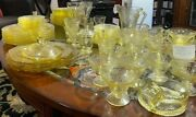 Large Lot Of Depression Glass From Federal Glass