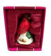 Royal Albert Doulton Old Country Roses Red Cardinal Bird Christmas Tree Ornament