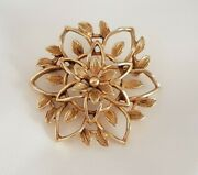 Flower Brooch Gold Tone By Sarah Coventry Stamped Sarah Cov Canada