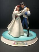 Wdcc The Little Mermaid Ariel And Eric Two Worlds One Heart+ Base + Postcard