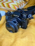 Fujifilm X-t4 With Fringer Canon Ef-fx Pro Ii Mount Adapter + 24mm Canon Ef Lens
