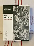 M.c. Escher House Of Stairs Pomegranate 1000 Piece Puzzle Used With Box