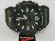G-shock Menand039s Analog-digital Connected Mudmaster Green And Black Resin Strap Watch
